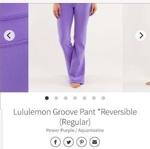 Lululemon groove pants reversible